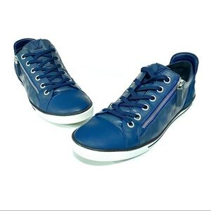 Louis Vuitton Blue Damier Aventure ZIP Up Shoes